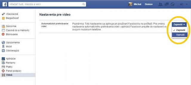 Prekáža vám spustenie videa na Facebooku?