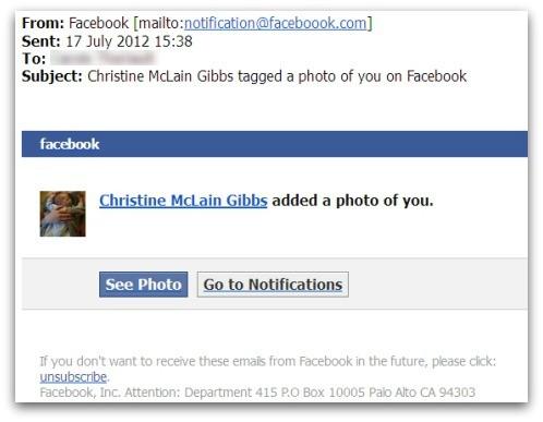 pozor na emaily z faceboooku