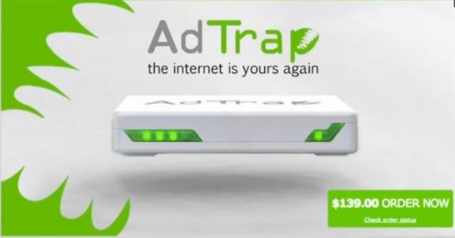 AdTrap: zariadenie, ktoré z webu odstráni reklamu
